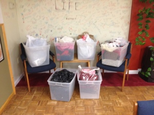 Your donations of winter clothes to Gifts of Love. What a blessing!
